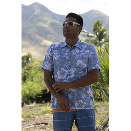 HONOLUA SURF - SHIRTS & POLOS MAUI HAWAIIAN BUTTON DOWN SHIRT NAVY