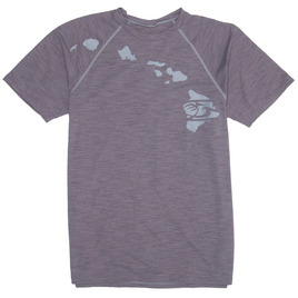 HONOLUA SURF - RASHGUARDS HEATHERED LINK SURF SHIRT UPF 30+ GREY HEATHER