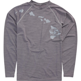 HONOLUA SURF - RASHGUARDS HEATHERED LINK LONG SLEEVE RASHGUARD UPF 30+ GREY HEATHER
