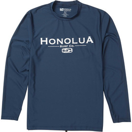 HONOLUA SURF MENS-HAWAIIAN-RASHGUARDS CORPORATE LS RASHGUARD NAVY