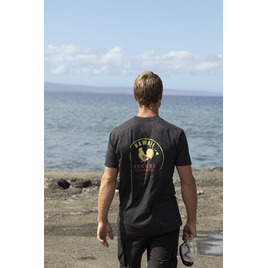 HONOLUA SURF CLOTHING REWSTER FADE SHORT SLEEVE TEE BLACK