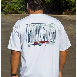 HONOLUA SURF MENS-HAWAIIAN-CLOTHING EVOLUTION SHORT SLEEVE TEE WHITE