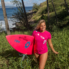 HONOLUA - RASHGUARDS LINK HAWAII RASHGUARD PINK