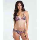 BILLABONG PARKSIDE PAISLEY TRIANGLE BIKINI TOP FRONT VIEW BLACK