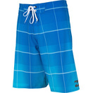 BILLABONG ALL DAY PLAID X CYAN BOARDSHORT FRONT