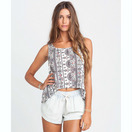 LITE HEARTED SUN WARRIOR SHORTS WHITE CAP FRONT