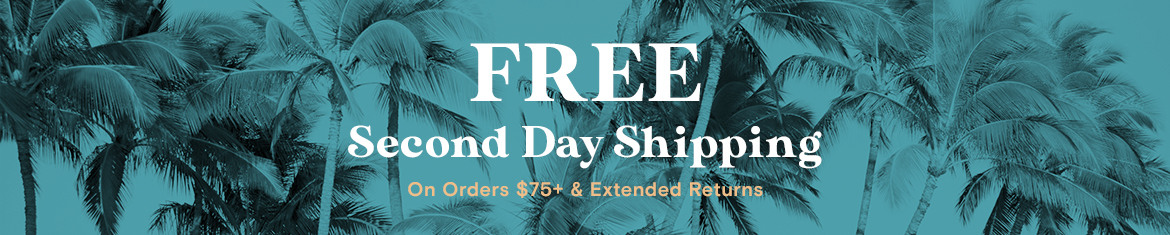 free 2nd day shipping banner